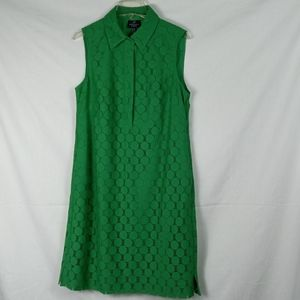 =Adrienne  Papell Bright green dress